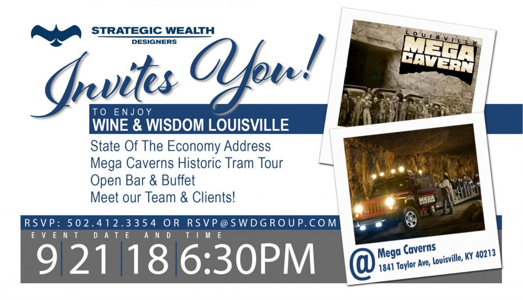 Wine and Wisdom | Louisville Mega Caverns | Strategic Wealth Designers